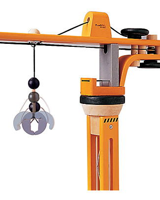 PlanToys Wooden Crane Set - Fun and educational Wooden Blocks & Construction Sets