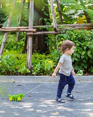 PlanToys Wooden Dancing Alligator, Pull-Along Toy - Eco-friendly fun! Wooden Push & Pull Toys