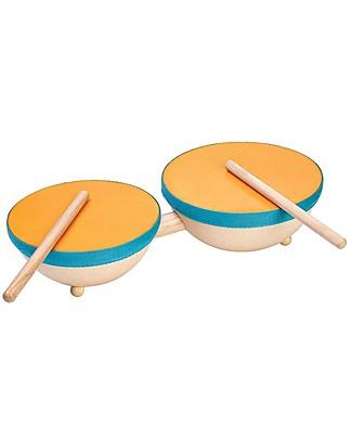 PlanToys Wooden Double Drum Musical Instruments