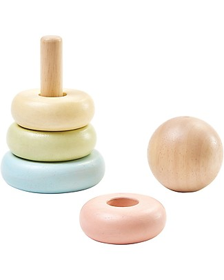 PlanToys Wooden First Stacking Ring, 5 pieces - Eco-friendly fun! Wooden Blocks & Construction Sets