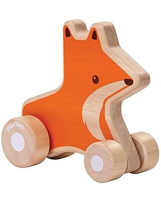 PlanToys Wooden Fox Wheelie,  10x9.5x13 cm - Eco-friendly fun! Outdoor Games & Toys