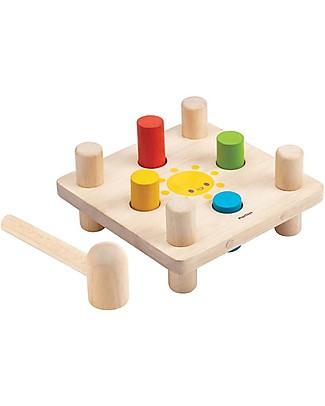 PlanToys Wooden Hammer Peg - Endless fun! Wooden Blocks & Construction Sets