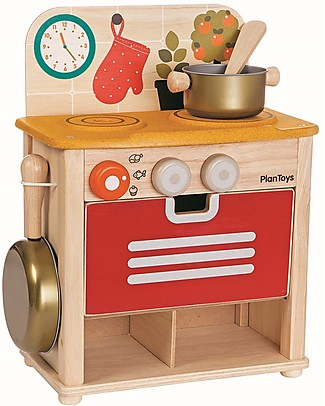 PlanToys Wooden Kitchen Set - Fun and beautiful Toy Kitchens & Play Food