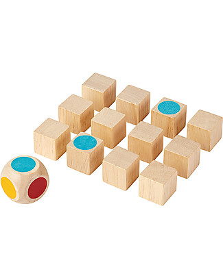 PlanToys Wooden Mini Memory Game, 12 cubes - Eco-friendly fun! Memory Games