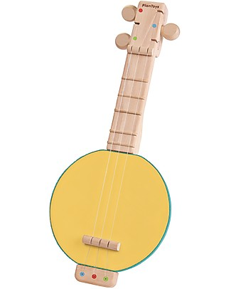 PlanToys Wooden Music Toy Banjolele - With adjustable strings! Musical Instruments