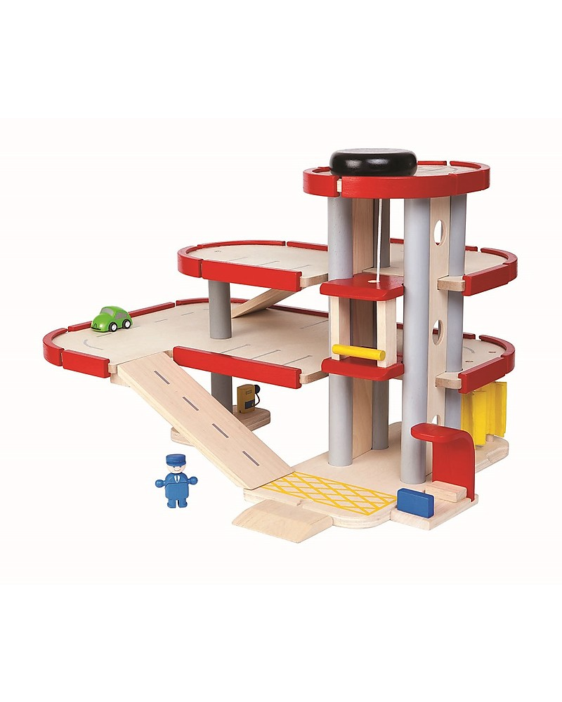PlanToys Wooden Parking Garage Fun and educational boy – Plan Toys Car Garage