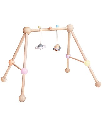 PlanToys Wooden Play Gym with Set of Toys Included Baby Gym