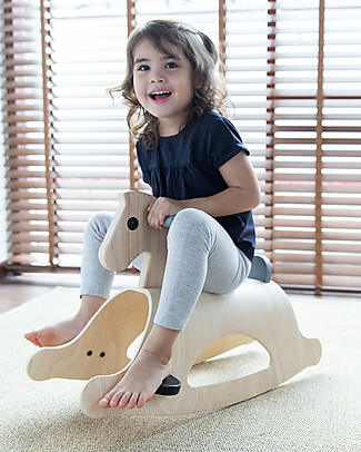 PlanToys Wooden Rocking Horse Palomino Mono Rides On