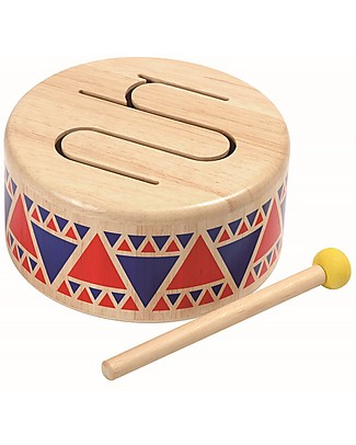 PlanToys Wooden Solid Drum  Musical Instruments