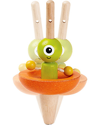 PlanToys Wooden Spaceship Top - Eco-friendly, educational, fun! Traditional Toys