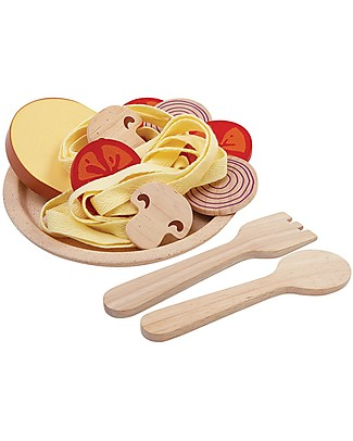 PlanToys Wooden  Spaghetti Toy - Teach to Eat Healtily Story Making Games