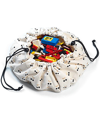 Play&Go Mini Portable 2 in 1 Storage Bag & Playmat in cotton - Cherries Playmats