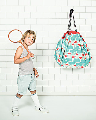 Play&Go Portable 2 in 1 Storage Bag & Playmat – Badminton by Bakker Made With Love – 100% Pure Cotton Toy Storage Boxes