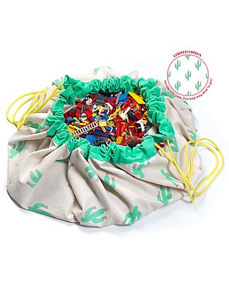 Play&Go Portable 2 in 1 Storage Bag & Playmat - Cactus Limited Edition - 100% Pure Cotton Playmats