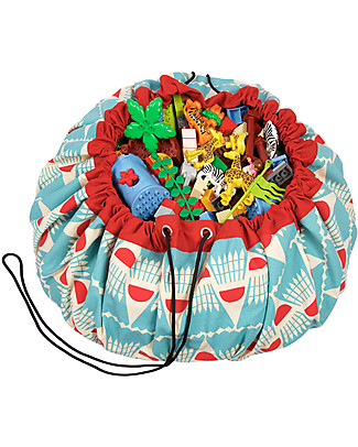 Play&Go Portable 2 in 1 Storage Bag & Playmat in cotton – Badminton by Bakker Made With Love Toy Storage Boxes