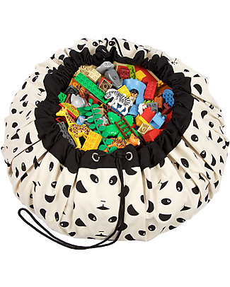 Play&Go Portable 2 in 1 Storage Bag & Playmat in cotton - Panda by Eef Lillemor Toy Storage Boxes