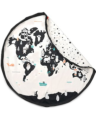 Play&Go Portable 2 in 1 Storage Bag & Playmat in cotton - WorldMap Playmats