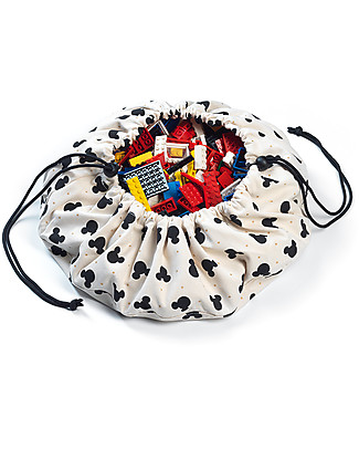 Play&Go Mini Portable 2 in 1 Storage Bag & Playmat in cotton - Disney Collection, Mickey Mouse Playmats