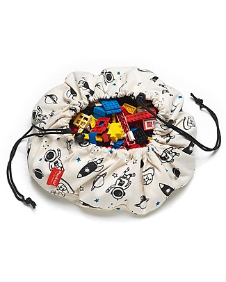 Play&Go Mini Portable Storage Bag in cotton - Space Toy Storage Boxes