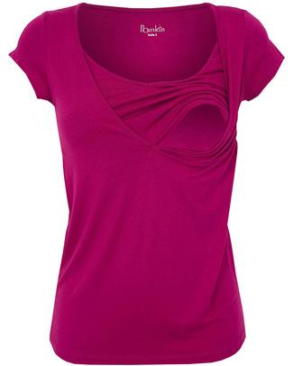 Pomkin Lise Maternity & Nursing Top - Fuchsia - Capped Sleeves & V Neck! T-Shirts And Vests