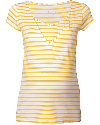 Pomkin Lise - Maternity & Nursing Top - Yellow Stripes  T-Shirts And Vests