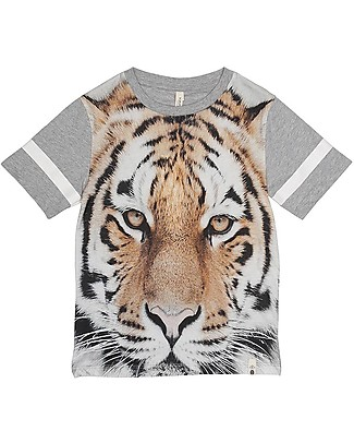 Popupshop Basic Short Sleeves Tee, Tiger - 100% Organic cotton T-Shirts And Vests