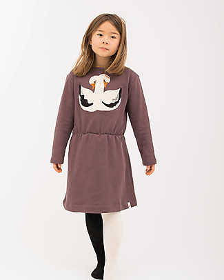 Popupshop Karen Dress, Swan - 100% cotone bio Dresses