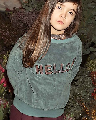 "Popupshop Loose Sweat Teddy Trooper ""Hello"" - 100% organic cotton Sweatshirts"