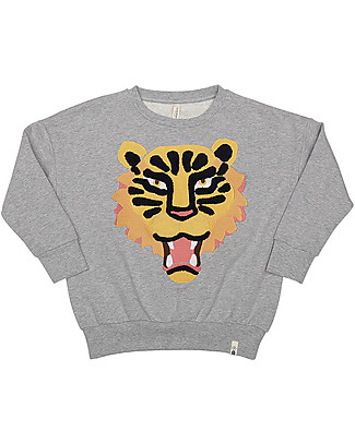 Popupshop Loose Sweat Tiger EMB - 100% organic cotton Sweatshirts