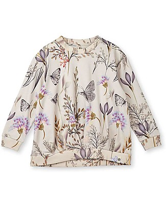 Popupshop Wrinkle Blouse Winter Flower - 100% organic cotton Long Sleeves Tops