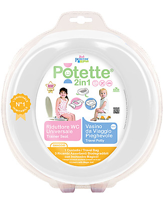 Potette 2in1 Potette 2in1, Trainer Seat and Travel Potty - White Potties