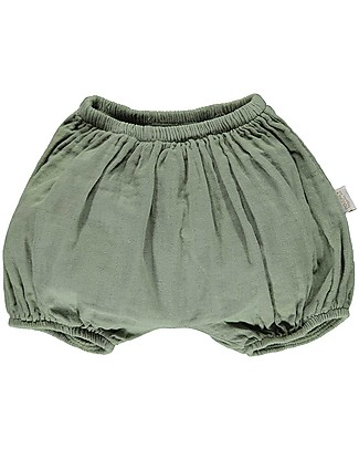 Poudre Organic Baby Bloomer Verveine, Oil Green - 100% organic cotton Shorts
