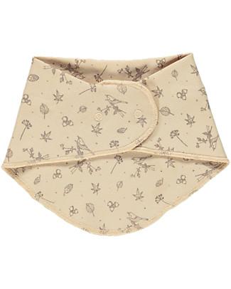 Poudre Organic Bandana Bib, Amber Light with Autumn Breeze Print - 100% organic cotton Snap Bibs