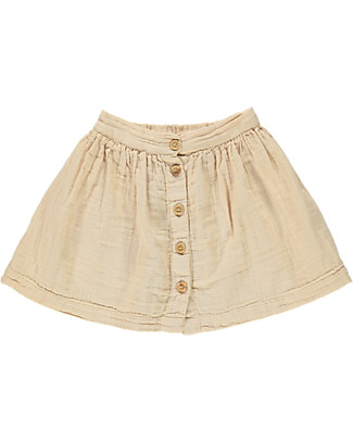 Poudre Organic Buttoned Baby Skirt, Amber Light - 100% organic cotton Skirts