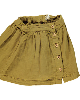 Poudre Organic Buttoned Baby Skirt, Brown Sugar - 100% organic cotton Skirts