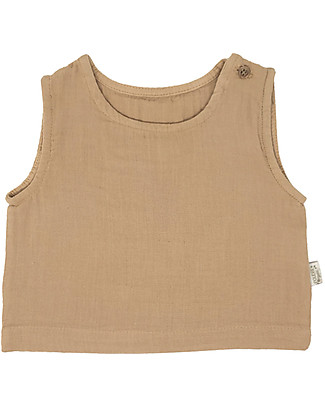 Poudre Organic Ceylan Tank Top, Indian Tan (from 3 years) - 100% Organic Cotton T-Shirts And Vests