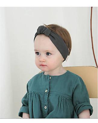 Poudre Organic Girl's Headband, Iron Gate - Organic Cotton Hair Accessories