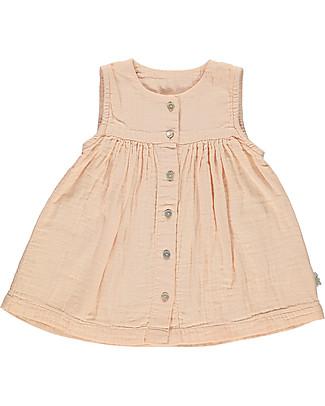 Poudre Organic Girl's Sleeveless Dress, Pink - 100% organic cotton Dresses