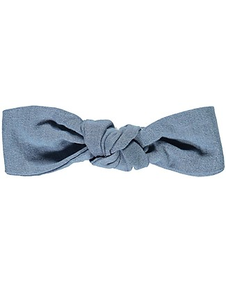 Poudre Organic Girl's Headband, Jeans (6 months - 8 years) - 100% organic cotton Hair Accessories