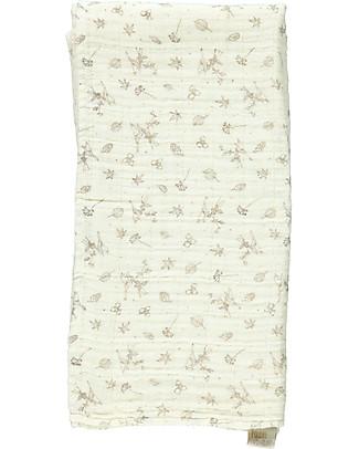 Poudre Organic Multiuse Muslin Cloth, Milk Autumn Breeze - 100% Organic Cotton Scarves And Shawls