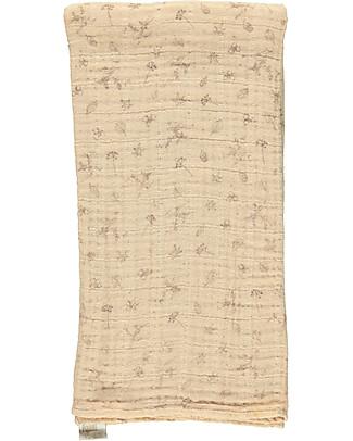 Poudre Organic Multiuse Muslin Cloth, Pale Pink Autumn Breeze - 100% Organic Cotton Swaddles