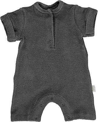 Poudre Organic Sponge Guimauve Onepiece with Buttons Badiane, Iron Gate - 100% organic cotton Sets And Co-Ords