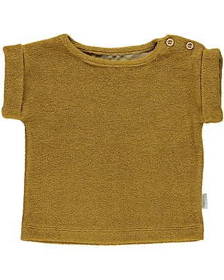 Poudre Organic Sponge T-shirt Laurier, Brown Sugar (3+ years) - 100% organic cotton T-Shirts And Vests