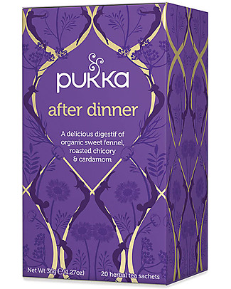 Pukka After Dinner, Tisane with Fennel, Roasted Chicory & Cardamom, 20 teabags - It promotes Digestion Infusions