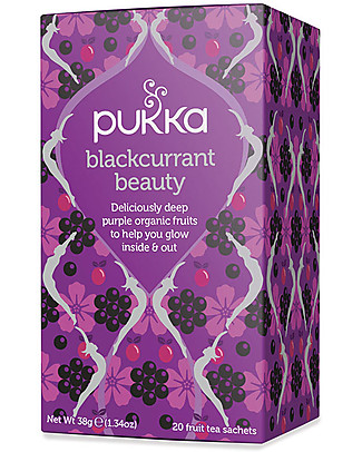 Pukka Blackcurrant Beauty, Purple Organic Fruits Tisane, 20 teabags - To Glow Inside and Out Infusions