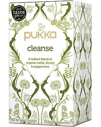Pukka Cleanse, Purifying Tisane with Nettle, Fennel and Peppermint, 20 teabags – For a glowing and radiant skin Infusions