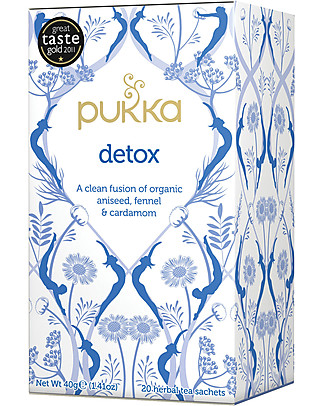 Pukka Detox, Aniseed, Fennel and Cardamom Tisane, 20 teabags - Digestive and lenitive Infusions