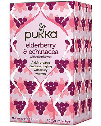 Pukka Elderberry & Echinacea, 20 teabags - Warming and comforting Infusions
