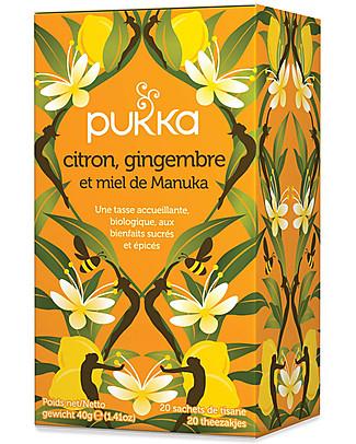 Pukka Lemon, Ginger & Maunka Honey Tisane, 20 teabags - It stimulates the body's defenses Infusions