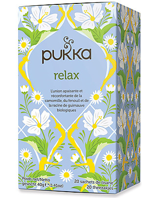 Pukka Relax, Tisane with Fennel and Chamomile, 20 teabags – Ideal in the evening, after a long day Infusions